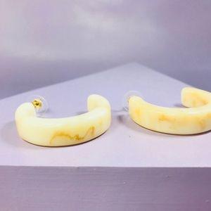 CLOSET REHAB Jewelry - 🆑 Beige Thick Hoops